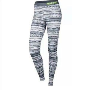 Nike Pro Dri Fit Leggings Grey Medium
